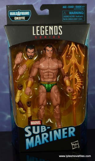 marvel legends sub-mariner figure review -package front