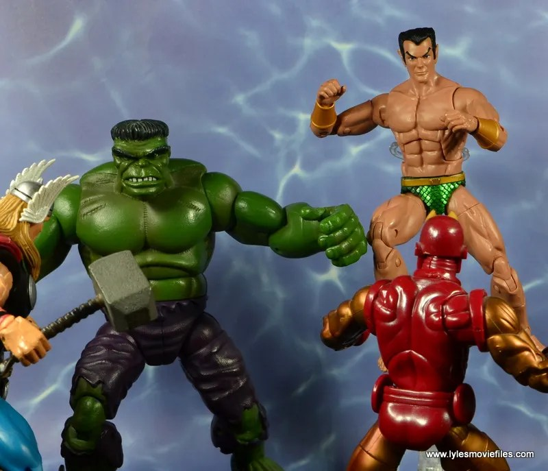 marvel legends sub-mariner figure review -with hulk vs avengers