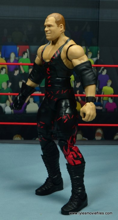 wwe elite 47b kane figure review - left side