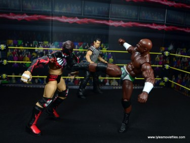 wwe elite 49 apollo crews figure review - big boot to finn balor