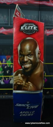 wwe elite 49 apollo crews figure review - package side