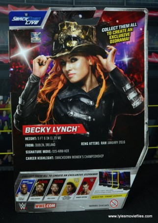 wwe elite 49 becky lynch figure review - package rear