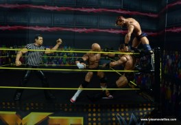 wwe elite the revival scott dawson and dash wilder figure review -double team clubbering in the corner