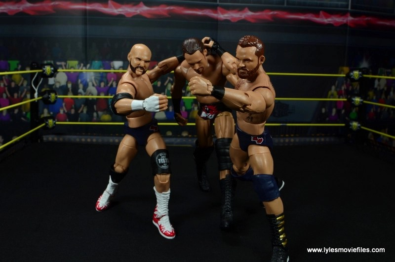 wwe elite the revival scott dawson and dash wilder figure review -taking big cass to thr corner