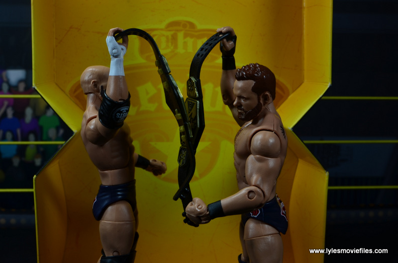 wwe elite the revival scott dawson and dash wilder figure review -toasting belts