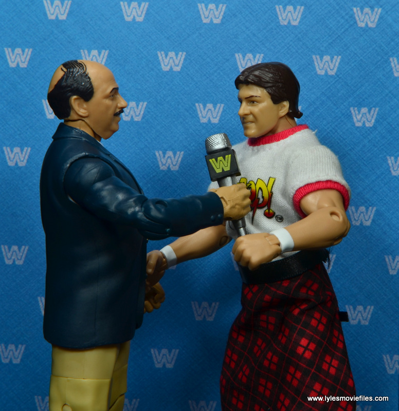 wwe flashback mean gene okerlund figure review - talking to roddy piper