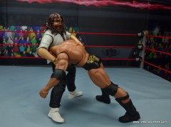 wwe summerslam elite mankind figure review - double arm ddt to the rock