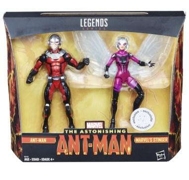 marvel legends ant-man and stinger package