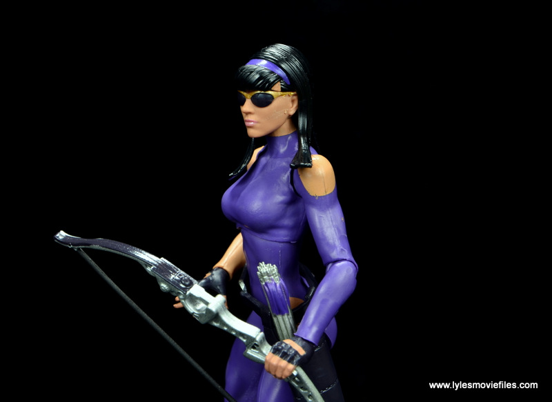 Marvel Legends Avengers Vision, Kate Bishop and Sam Wilson figure review - close up left side