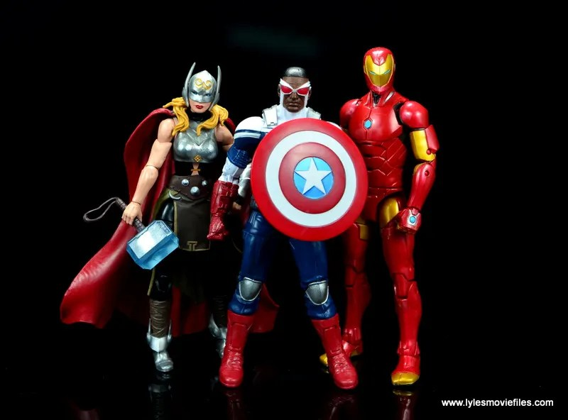 Marvel Legends Avengers Vision, Kate Bishop and Sam Wilson figure review - jane foster thor, sam wilson captain america and iron man