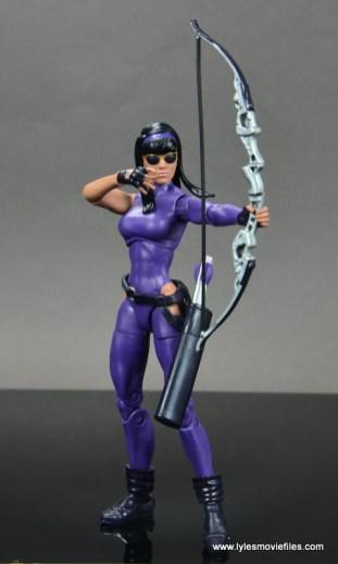 Marvel Legends Avengers Vision, Kate Bishop and Sam Wilson figure review - kate bishop aiming side