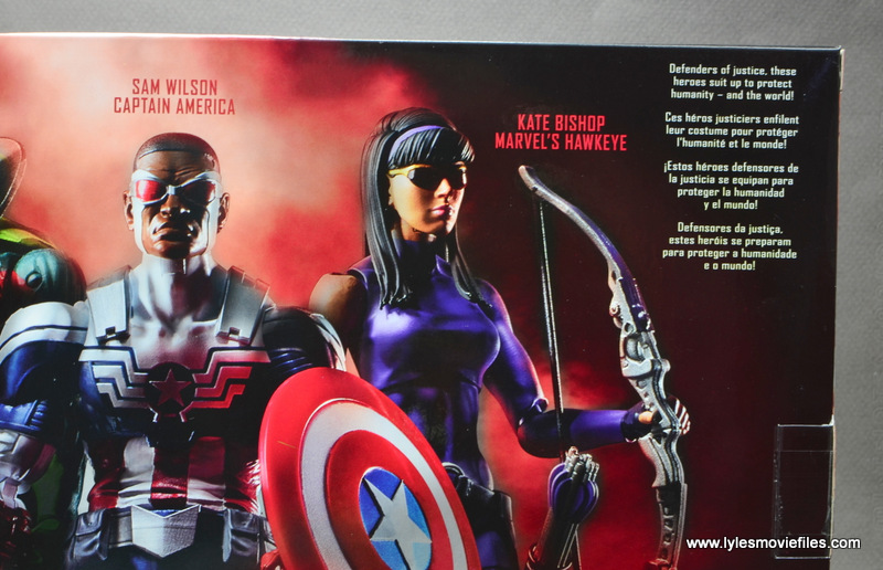 Marvel Legends Avengers Vision, Kate Bishop and Sam Wilson figure review - package bio