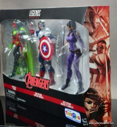 Marvel Legends Avengers Vision, Kate Bishop and Sam Wilson figure review - package side