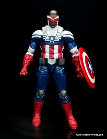 Marvel Legends Avengers Vision, Kate Bishop and Sam Wilson figure review - sam wilson captain america front