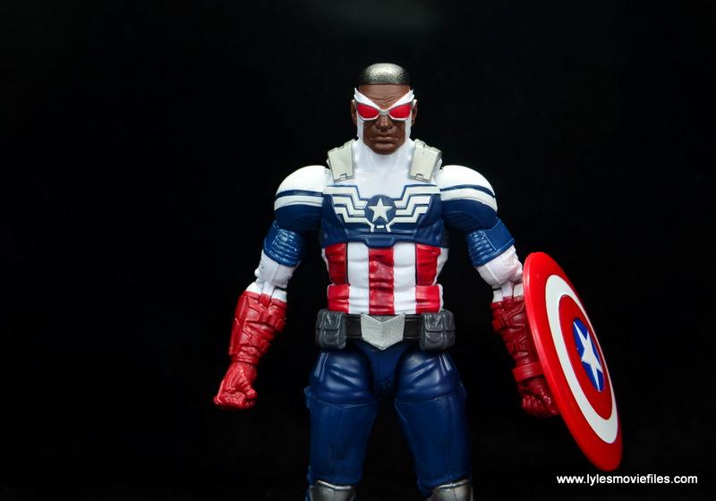 Marvel Legends Avengers Vision, Kate Bishop and Sam Wilson figure review - sam wilson main