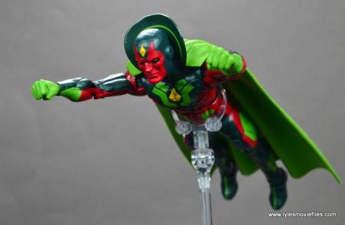 Marvel Legends Avengers Vision, Kate Bishop and Sam Wilson figure review - vision flying