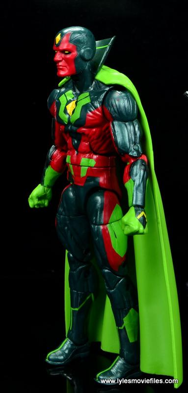 Marvel Legends Avengers Vision, Kate Bishop and Sam Wilson figure review - vision left side