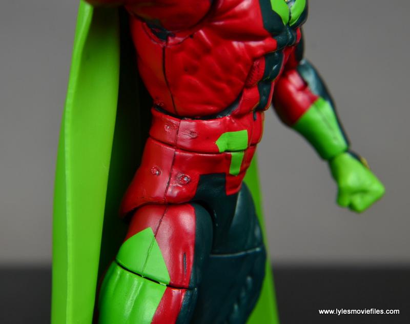 Marvel Legends Avengers Vision, Kate Bishop and Sam Wilson figure review - vision paint detail