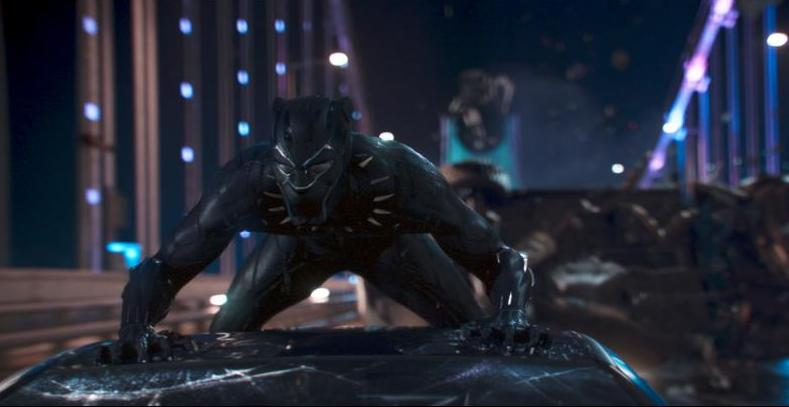black panther movie review - black panther on car