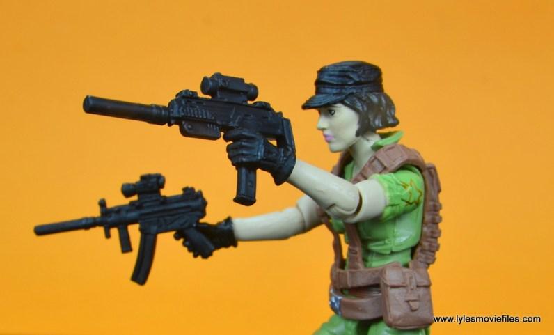 gi joe social clash lady jaye and baroness figure review set - aiming two guns