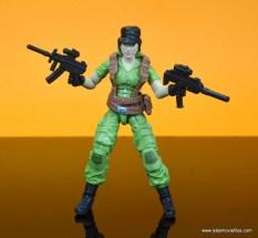 gi joe social clash lady jaye and baroness figure review set - lady jaye with two machine guns