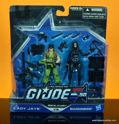 gi joe social clash lady jaye and baroness figure review set - package front