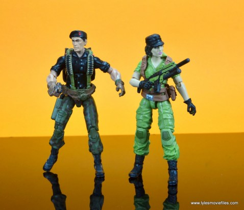 gi joe social clash lady jaye and baroness figure review set - ready for battle with flint