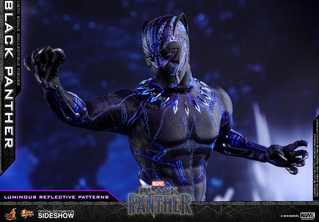 hot toys black panther figure -led wide