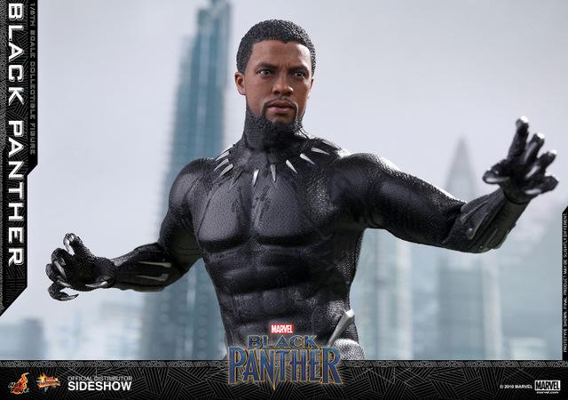 hot toys black panther figure - wide unmasked