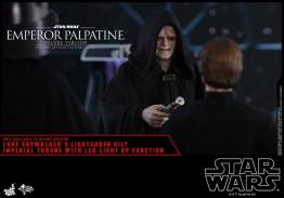 hot toys emperor palpatine figure -taunting luke skywalker