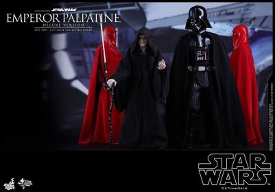 hot toys emperor palpatine figure - walking with darth vader