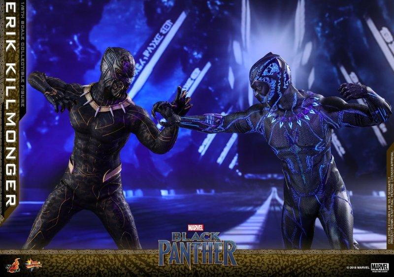 hot toys erik killmonger figure -vs Black Panther