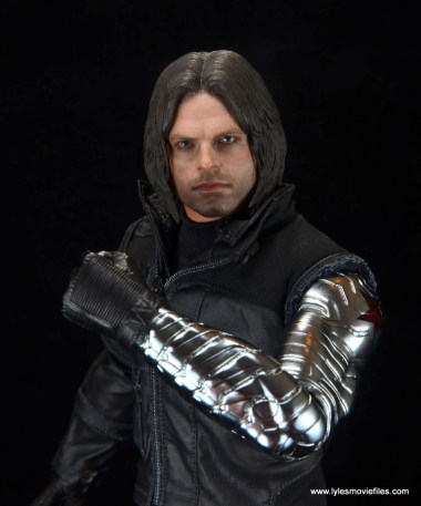 hot toys the winter soldier civil war figure review - metal arm detail