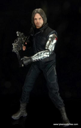 hot toys the winter soldier civil war figure review - walking with gun