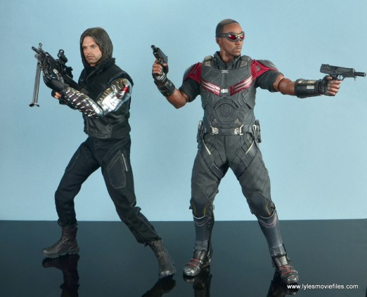 hot toys the winter soldier civil war figure review - with falcon