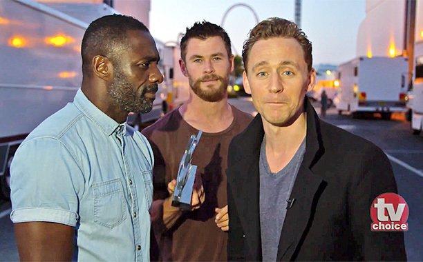 idris elba and chris hemsworth and tom hiddleston