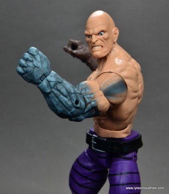 marvel legends absorbing man figure review -detail on stone arm