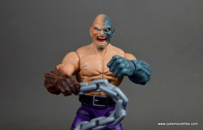 marvel legends absorbing man figure review -front of absorbing head