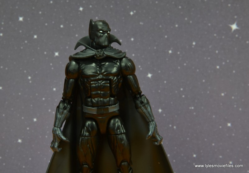 marvel legends black panther figure review - looking at night sky