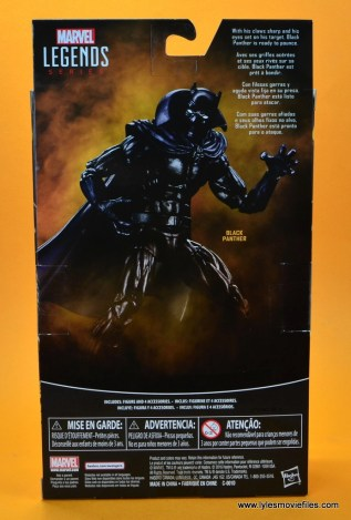 marvel legends black panther figure review - package rear