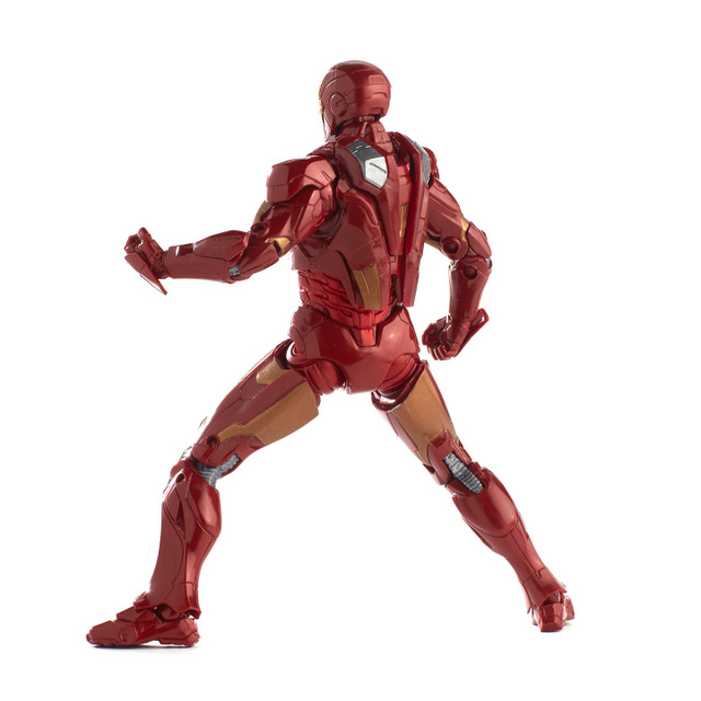marvel legends marvel studios avengers iron man mark 7 rear flaps down