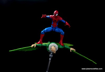 marvel legends retro spider-man figure review -atop the vulture's wings