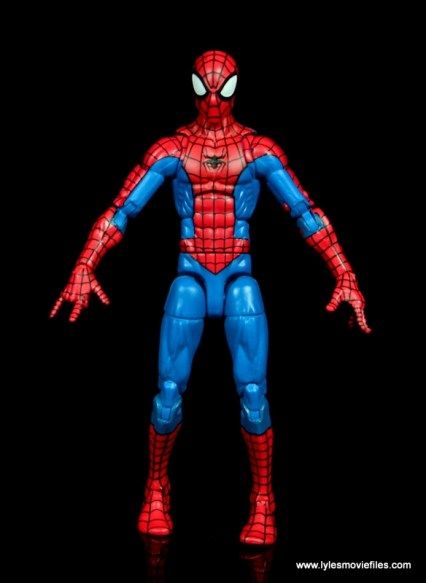 marvel legends retro spider-man figure review - front