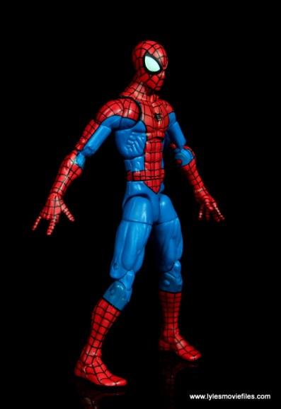 marvel legends retro spider-man figure review -right side