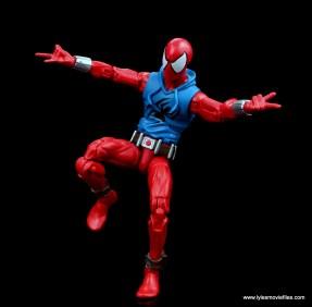 marvel legends scarlet spider-man figure review - balancing act