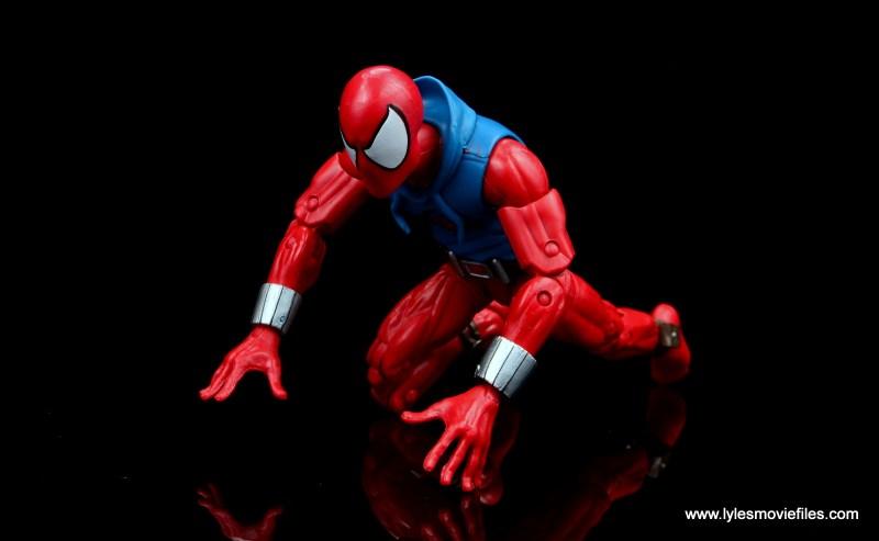 marvel legends scarlet spider-man figure review -crawling