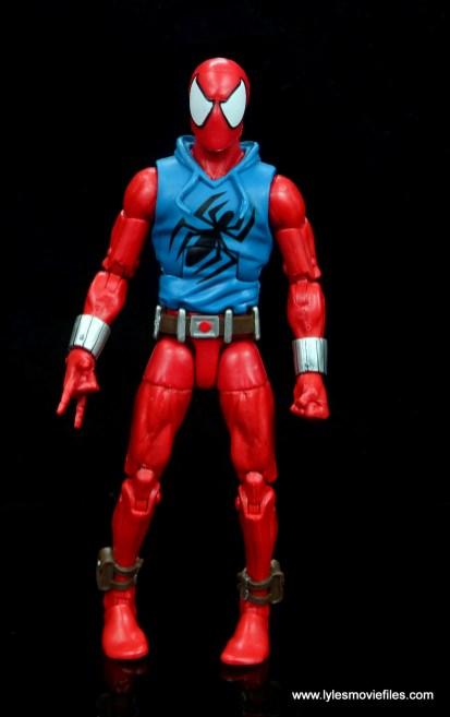 marvel legends scarlet spider-man figure review -front