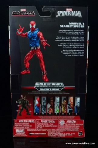 marvel legends scarlet spider-man figure review -package rear