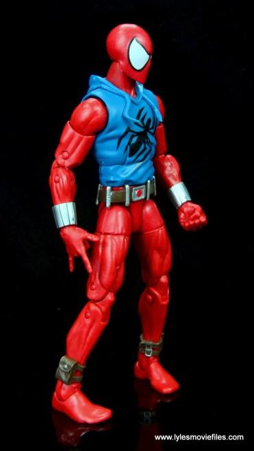 marvel legends scarlet spider-man figure review -right side