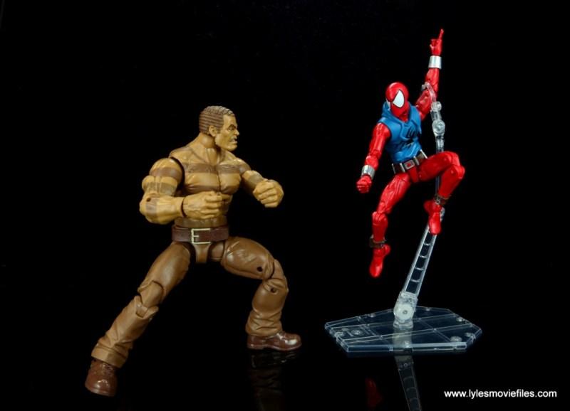 marvel legends scarlet spider-man figure review - vs sandman